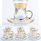 Turkish 6 person tea and coffee presentation set 6 person coffee set elegant elegant presentation set FREE SHİPPİNG-default