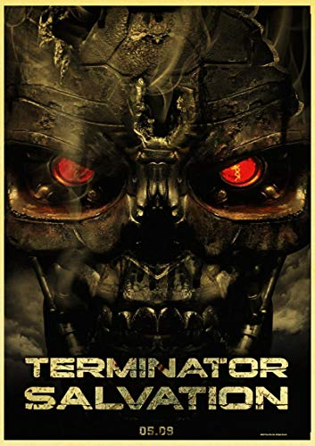 lubenwei Retro Posters and Prints Classic Movie The Terminator Home Room Wall Decor Vintage Poster Decoration 40x60cm No frame AT-3731