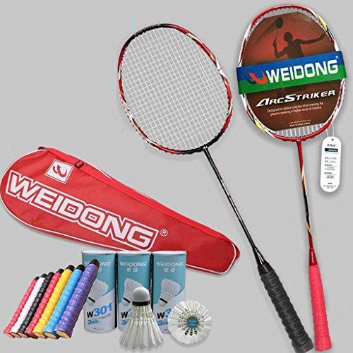 HLD Zwei Zwei Loaded Ultra-Light Carbon Badminton Schläger Doubles Double Shot Badminton Schläger