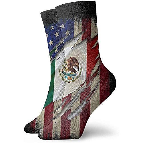 Dydan Tne Orgullosos Calcetines de la Novela de la Bandera Mexicana Mexicana Calcetines Deportivos