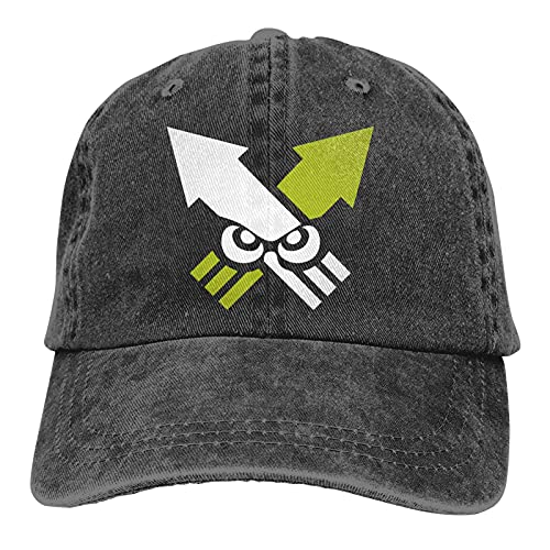 DRXX Splatoon Squidforce Squidmark Unisex Soft Casquette Cap Sombrero de Moda Vintage Ajustable Gorras de béisbol Moda Negro