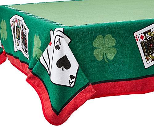 Toalha de Mesa Lepper Joker Verde 1.55 m x 1.55 m, Algodão Tradicional