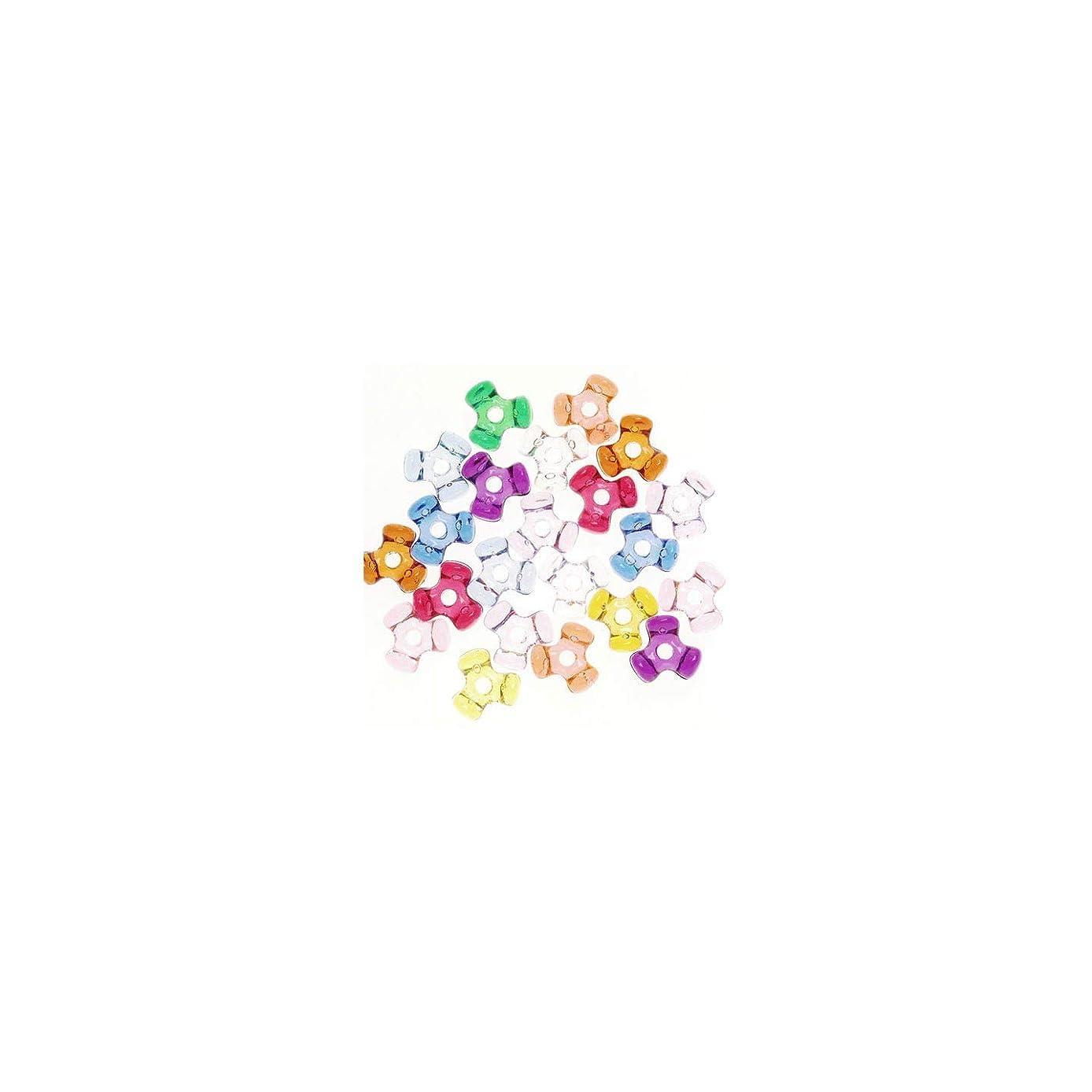 Tri-Beads 06102-7-T27 Bead Tri Translucent, Multicolor