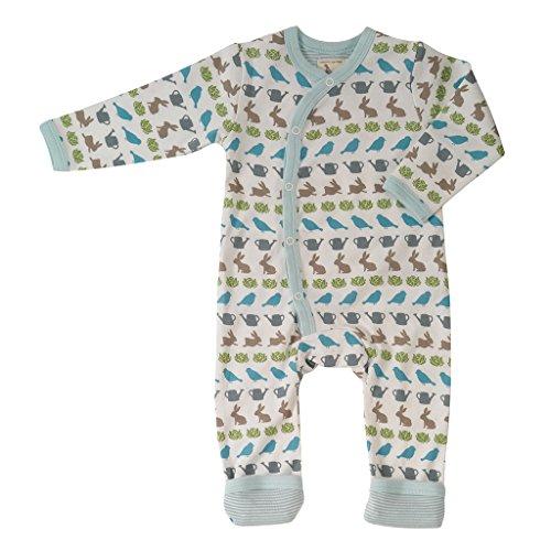 Pigeon-organics For Kids Grenouillère Pyjama Romper Long Springti me Bleu 6-12 m