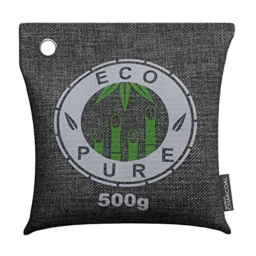 Activated Charcoal Bamboo Charcoal Bags | Air Purifying Odor Absorber, Natural Air Fresheners for Large Spaces - Dehumidifier for Crisp & Fresh Spaces - Pack of 2 500g