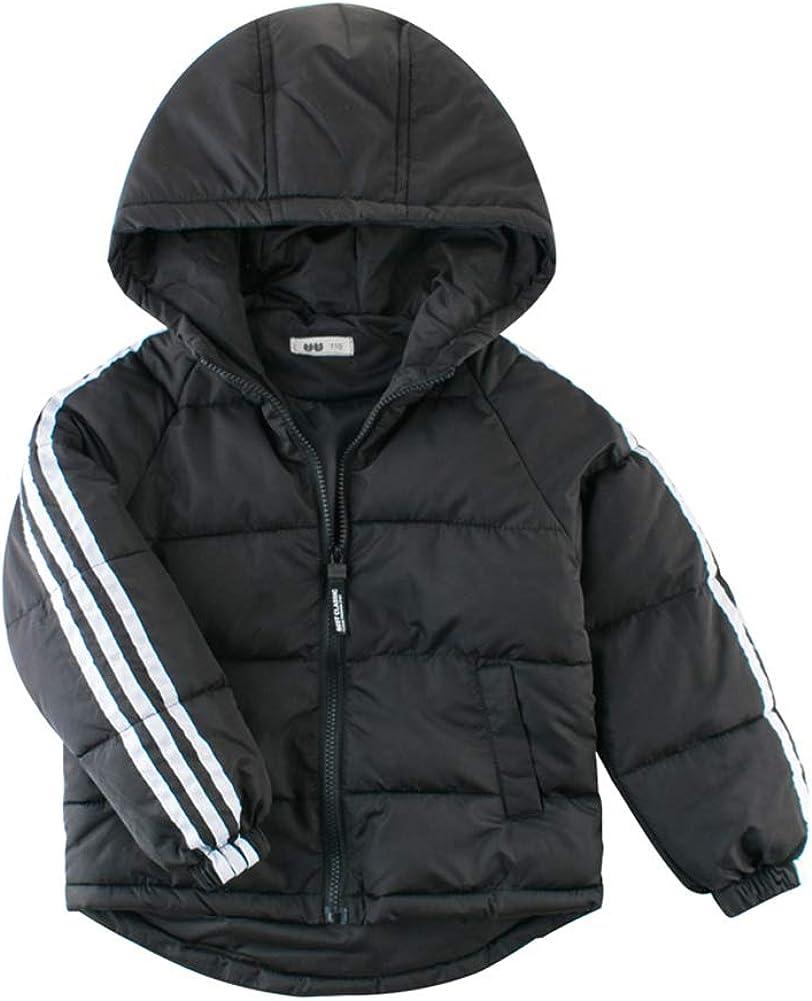 Boy's Lightweight Long Sleeve Warm Hooded Puffer Jacket Coats Outerwear Aged 2-8 Years