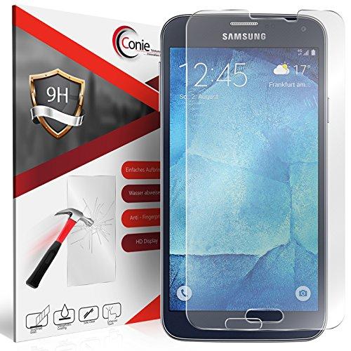 Conie 9H3408 9H Panzerfolie Kompatibel mit Samsung Galaxy S5 / S5 Neo, Panzerglas Glasfolie 9H Anti Öl Anti Fingerprint Schutzfolie für Galaxy S5 Galaxy S5 Neo Folie HD Clear