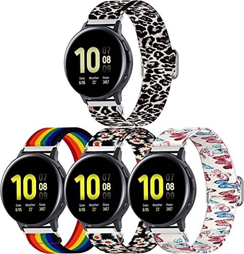 Classicase Correa de Reloj Compatible con Huawei Watch GT 2 (46mm) / Watch GT 2e / Watch GT, Lienzo Correa Relojes Militar del ejército - Correa Reloj con Hebilla de Acero Inoxidable (22mm, 4-Pack G)