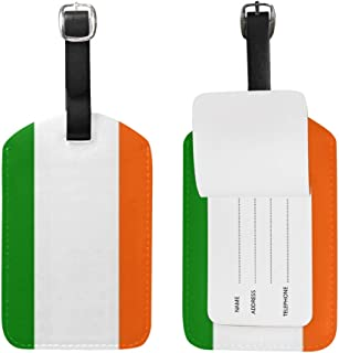 Luggage Tags Ireland Flag Travel ID Identifier for People