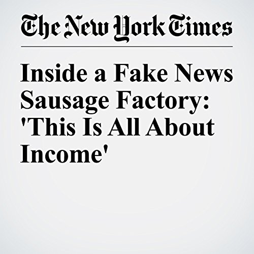 Inside a Fake News Sausage Factory: 'This Is All About Income' audiobook cover art