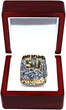 BRONCOS FOOTBALL (Peyton Manning) 2015 SUPER BOWL 50 WORLD CHAMPIONS (This Ones for Pat) Rare Collectible High-Quality Rep...