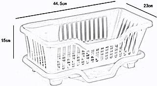 MU Ménage Portable Boîte de Rangement en Bois Massif Cuisine Simple Vaisselle drainée en Plastique Panier de Rangement Mul...