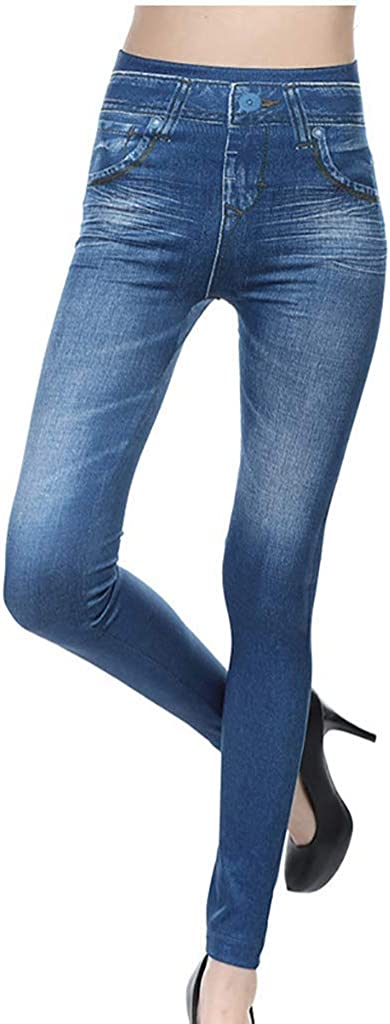 Womens High Waisted Stretch Jeans Skinny Jeans Pants Skinny Denim Jegging Pant
