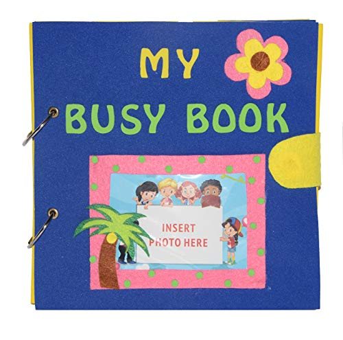 Vibgyor Vibes 6 Page Quiet Book/ Silent Book/ Toddler Activity Book