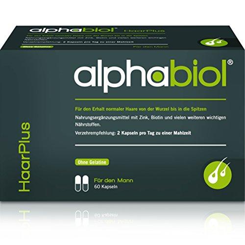 alphabiol HaarPlus für den Mann für den Erhalt normaler Haare von der Wurzel an, 60 Kapseln für 30 Tage