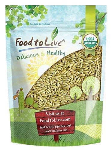 Organic Rye Berries, 1 Pound - Whole Wheat Grain, Non-GMO, Kosher, Raw, Bulk Seeds, Product of the USA
