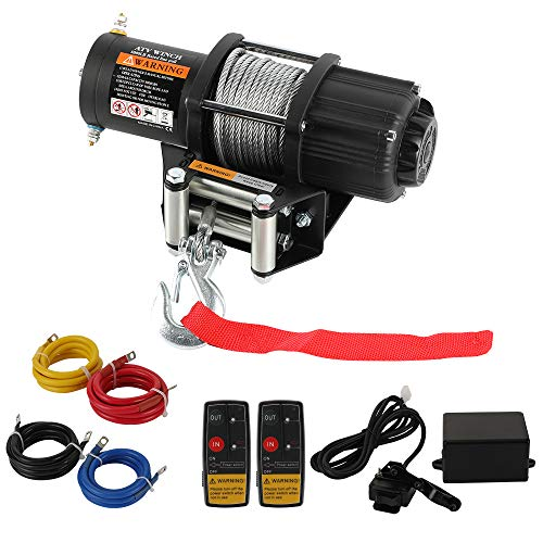 12V 5000 LBS Winch -HORSMILE Advanced Electric winches for Towing ATV/UTV Off Road with Mounting Bracket, 2 Wireless Remote Control, Gavanized Steel Rope