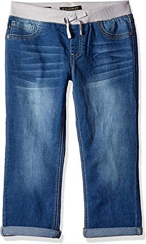 VIGOSS Girls Little Knit Waist Crop Shorts True Blue 4 product image