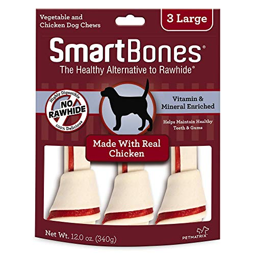 SmartBones Large Chews With Real Chicken 3 Count, Rawhide-Free Chews For Dogs Review