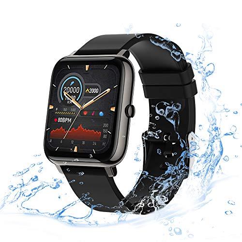 Smart Watch con Pantalla Táctil de 1,4 Pulgadas para Android iOS, eLinkSmart Smartwatch para Mujer Hombre,Reloj Inteligente de Fitness con Contador de Pasos y Resistente al Agua, Monitor de Sueño