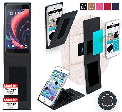 Hülle für HTC One X10 Tasche Cover Hülle Bumper | Schwarz Leder | Testsieger