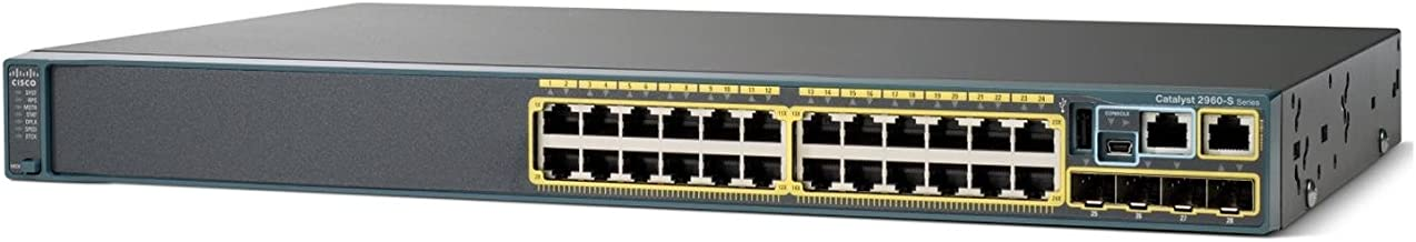 Cisco WS-C2960S-24TS-L-Catalyst 2960s Stack 24gige-4x SFP Lan Base