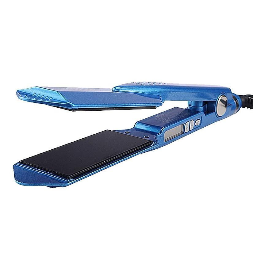 独立した見捨てられたラッドヤードキップリングトルマリンの陶磁器の毛のストレートナ、専門の毛のストレートナが付いている毛のストレートナ モデリングツール (色 : 青)
