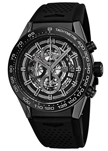 Tag Heuer Carrera Calibre Heuer 01 Orologio automatico da uomo con cronografo e lunetta in ceramica, CAR2A90.FT6071
