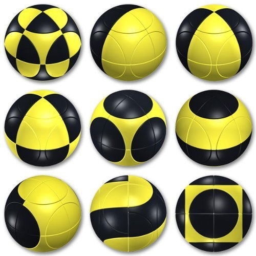 Marusenko Sphere Stage 1 Black and Yellow Rotation Puzzle by Marusenko