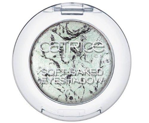 Catrice Cosmetics Candy Shock Soft Baked Eyeshadow gebackener Lidschatten C02 Play It Blue Farbe: Pastell Türkis/Silber/Schwarz Inhalt: 1,3g Lidschatten für strahlend schöne Augen.