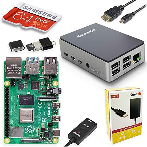 CanaKit Raspberry Pi 4 Starter PRO 64 Kit - Aluminum Edition (4GB RAM)