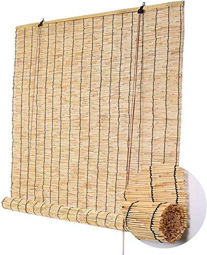 Bamborollo En La Naturaleza Sunscreen Raffrollo, Ideal Para Dormitorios Y Salones Y Otras Ventanas, Varios Tamaños, Ventana Rollo Bambú,70 x 200 cm (28 x 79 in)