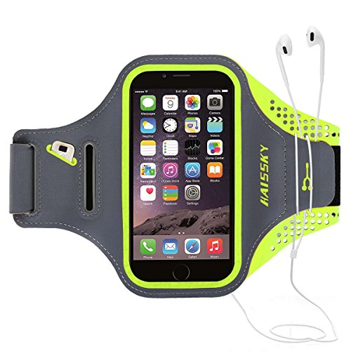 Fascia Sportiva da braccio-Haissky fascia di sport running with Key Holder, Locker Cable, carte & portamonete Sporty Bracelet per iPhone 8 7 6 6S Samsung Galaxy S7 S6 S6 Edge S5 S4 ecc