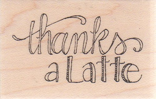 Thanks a Latte Wood Mounted Rubber Stamp (C19384)
