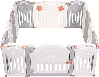JOYMOR Baby Playpen 14 Panels Foldable Play Fence Portable BPA-Free Safety Play Yards Kids Activity Center w/Locking Gate ...