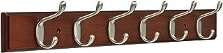 Franklin Brass FBHDCH6-511-R 27-Inch Hook Rail, Bark and Satin Nickel