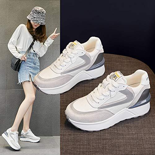 N-B Zapatillas para mujer Increase en talla pequeña, para deportes de primavera y tiempo libre, suela gruesa para todas las edades.