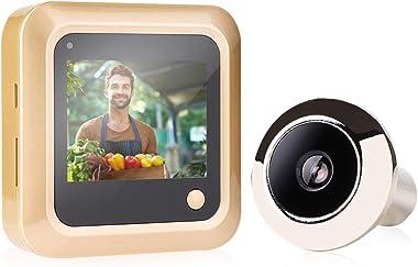 Smart Peephole Doorbell Camera, 2.4 Inch Digital Doorbell with 145 Degree Lens View, Door Eye Viewer Door Bell for Family Hou