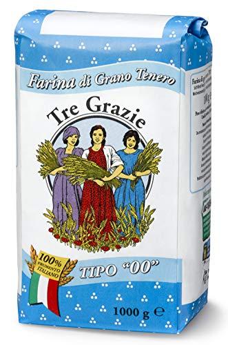 Tre Grazie - Italienisches Weizenmehl 00 - Brot | Pasta | Kuchen (1kg)