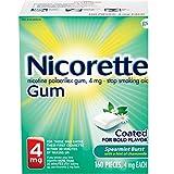 Nicorette 4mg Nicotine Gum to Quit Smoking - Spearmint Burst Flavored Stop Smoking Aid, 160 Count