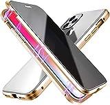 Anti-pío Funda compatible con iPhone 7 plus/8 plus, adsorción magnética Anti-Spy Cobertura de Pantalla Completa de Vidrio Templado Frontal y Posterior anti peep case compatible con iPhone 7+/8+