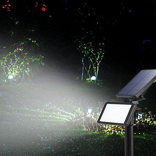 LED Solaire Projecteur,Extérieur Solaire de Jardin Spot Lampe Solaire 48 LED lumière de Nuit sans Fil pour Noël, Jardin, Escalier Exterieur, Cour, Clôture, Patio