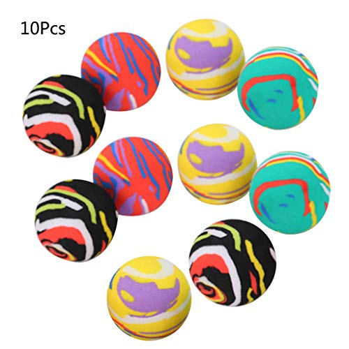 niumanery Colorful Cat Toy Ball Interactive Cats Play Chew Rattle Scratch EVA Foam Balls