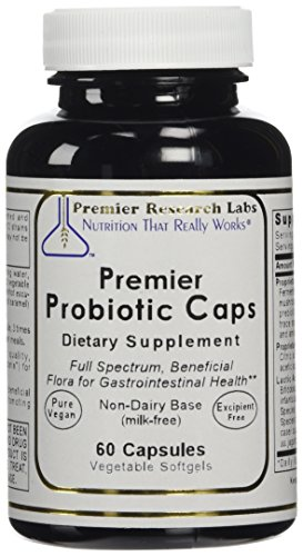 Premier Research Labs Probiotic Caps, 60 Softgels - Full Spectrum, Beneficial Flora for Gastrointestinal; Health Non-Dairy Base (Milk-Free)