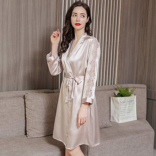 AMY Pyjama für Frauen, 100% Seide Mikrofaser Satin Glatt 2 Stück Ultra Sexy Pyjamas Hypoallergen Home Hotel Geschenk - Sommer,White,XXL