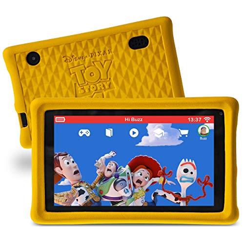 """Pebble Gear 7"""" Kids Tablet, 7 Zoll HD Display, Tablet für Kinder mit kindgerechter Hülle im A Toy Story: Alles hört auf kein Kommando-Design, inkl. Elternkontrolle, Spielen, E-Books, Apps und mehr"""