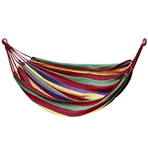 sourcingmap hamac suspendu Corde coton portable aile plein air Camping tissu toi rouge 200cm x 100cm Combo B