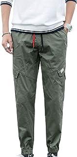 comprar comparacion GUOCU Pantalones Hombre Casuales Deporte Joggers Largos Pants con Bolsillos y Cordón Cargo Trouser