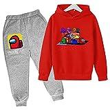 Photo de Among us Survêtement de sport pour enfant garçon fille Pantalon de sport Fitness Sweat à capuche pour tenue (Among US3,160)