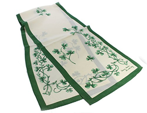 Irish Shamrock Scarf Silk Ireland Celtic Headscarf St. Patrick's Day 52' x 12'